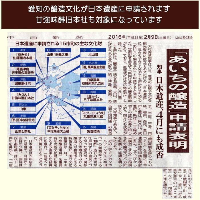 愛知の醸造文化、日本遺産申請へ